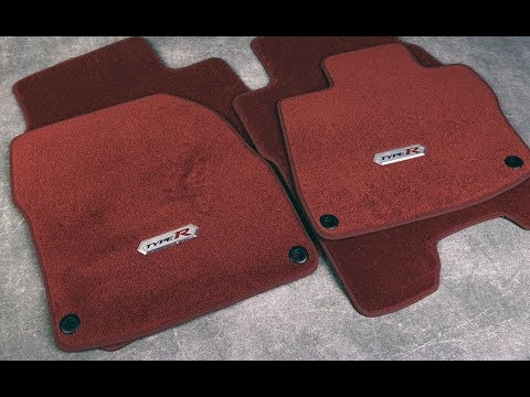 OEM HONDA RED TYPE R FLOOR MATS SET (CIVIC 07-12 TYPE R)