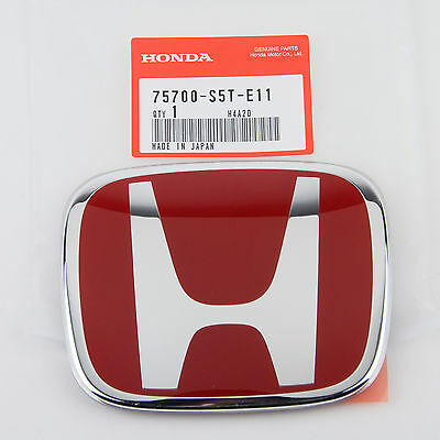 GENUINE HONDA FRONT RED H BADGE CIVIC TYPE R EP3 04-06