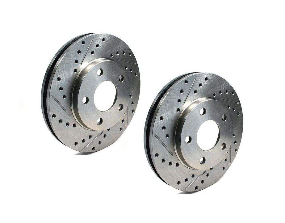 CENTRIC C-TEK DRILLED/GROOVED BRAKE DISCS FRONT (S2000 99-09)