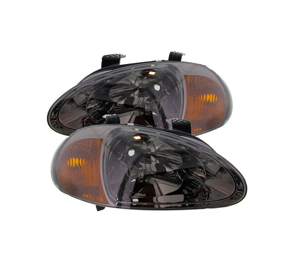 SONAR ONE PIECE JDM SMOKE HEAD LIGHTS (DEL SOL 92-98)