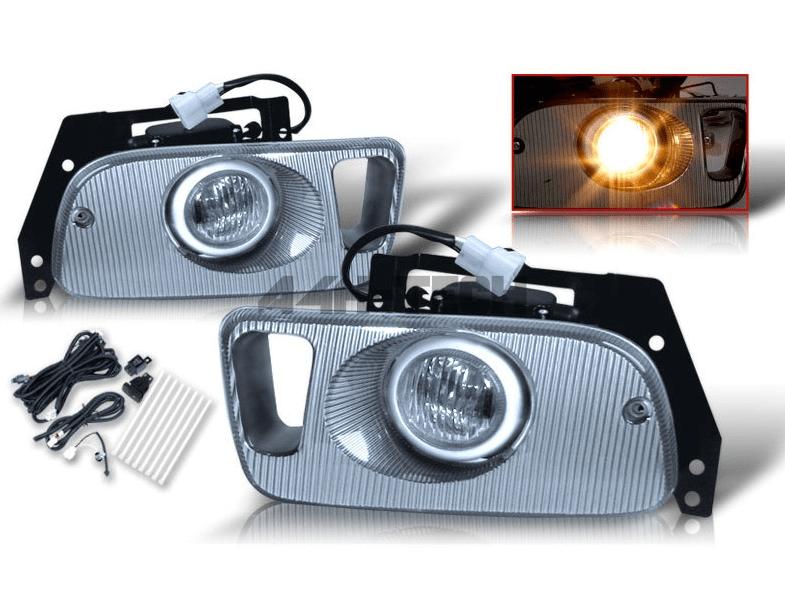 SONAR FOG LIGHTS CHROME WITH E-MARK (CIVIC 92-95 2/3DRS)