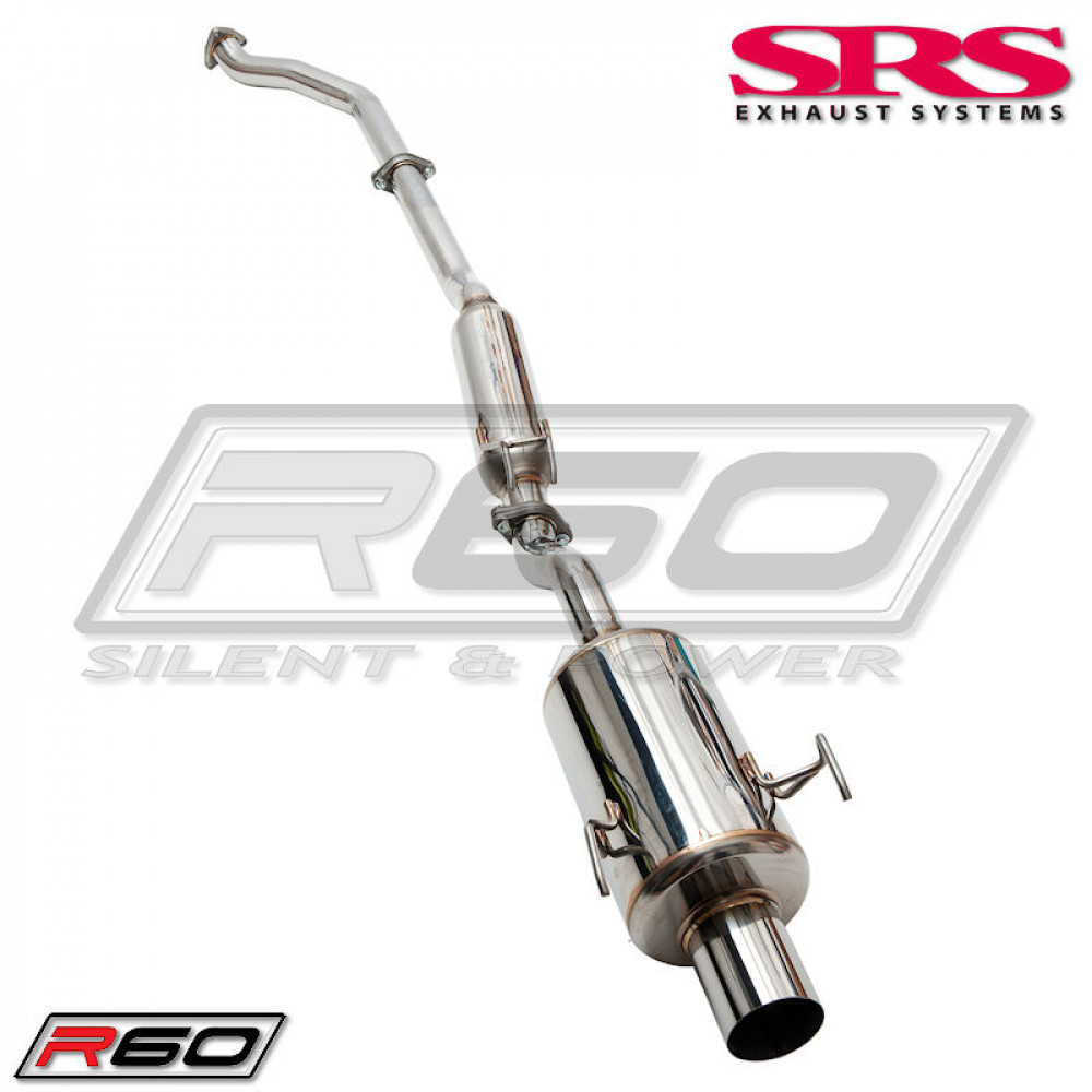 SRS EXHAUST SYSTEM R60 STAINLESS STEEL INCL. TUV (CIVIC 01-06 TYPE R)