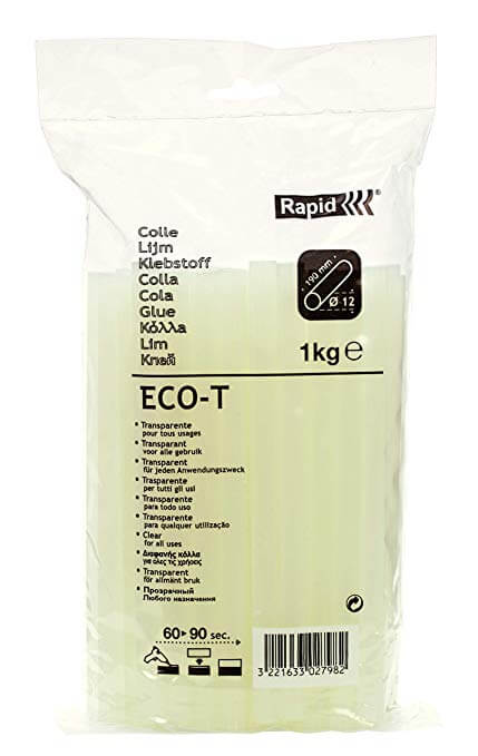 Saco Cola Rapid Transparente ECO-T 12mmx190mm 1kg