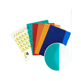 Bolsa Plástico em L A4 Translúcido (90microns) Azul - Pack 100 uni