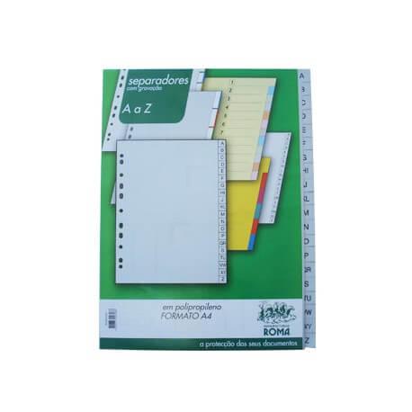 Separadores Plástico Indice A4 (A a Z)