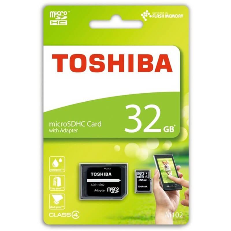 Cartão Memória Toshiba Micro SD 32GB C/Adaptador