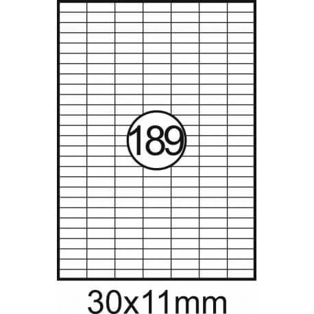 Etiqueta Fegolabel A4 30X11mm Branca (CX.100F=18900UDS)