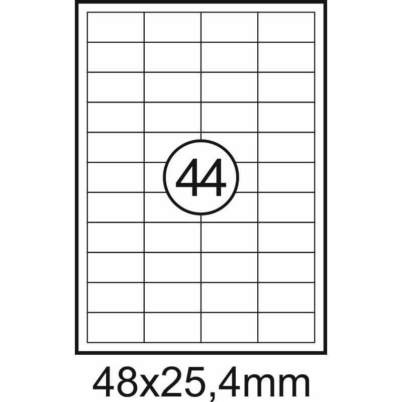 Etiqueta Fegolabel A4 48X25,4mm Branca (CX.100F=4400UDS)