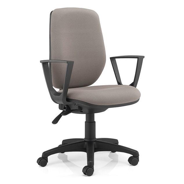 Cadeira 3550 - Costa Revestida - Contacto permanente - Base Poliamida - Rev. Gr IV-I80