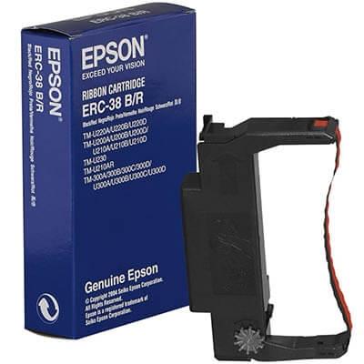 Fita Original Epson ERC30/34/38 Preto/Vermelho