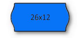 Rolo Etiqueta 26X12mm AD2 Canto Redondo Azul (1500UDS) - 1uni