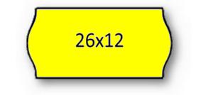Rolo Etiqueta 26X12mm AD2 Canto Redondo Amarela (1500UDS) - 1uni