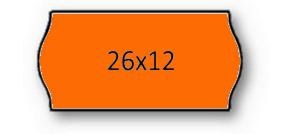 Rolo Etiqueta 26X12mm AD2 Canto Redondo Laranja (1500UDS) - 1uni