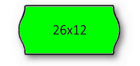 Rolo Etiqueta 26X12mm AD2 Canto Redondo Verde (1500UDS) - 1uni