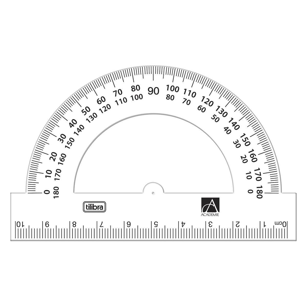 Transferidor 180º/10cm Plástico