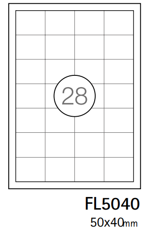 Etiquetas A4 50x40mm branca (CX.100F)