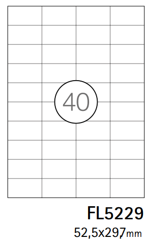 Etiquetas A4 52,5x29,7mm branca (CX.100F)