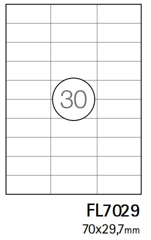 Etiquetas A4 70x29,7mm branca (CX.100F)