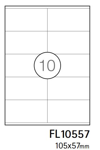 Etiquetas A4 105x57mm branca (CX.100F)