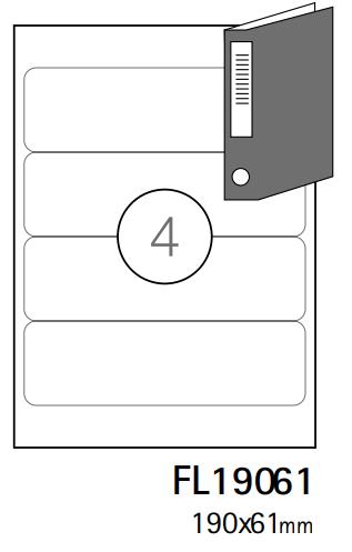 Etiquetas A4 190x61mm branca (CX.100F)