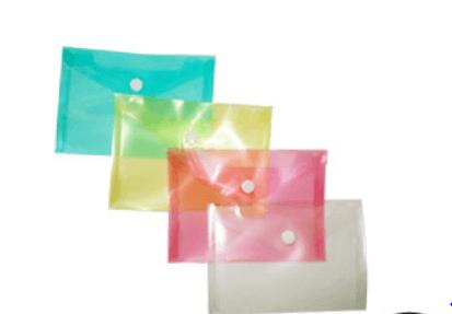 Bolsa arquivo tipo envelope A6 fecho botão - pack 12 uni