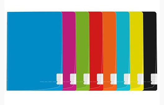 Caderno agraf A4 flex pautado capa plástica (48folhas)