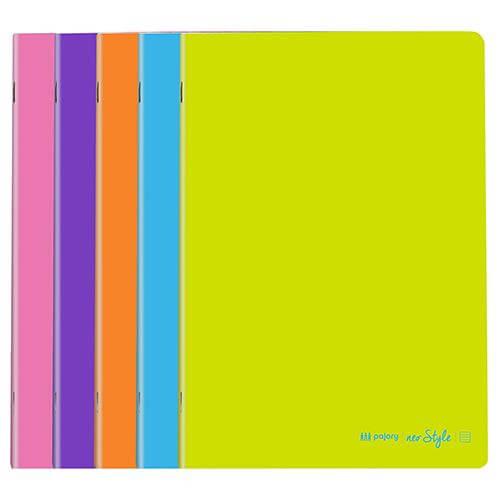 Caderno agraf. capa colors A4 xadrez c/argem (80folhas)