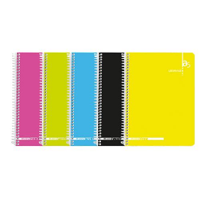 Caderno esp capa colors A5 xadrez (80folhas) 53v