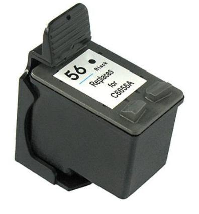 Tinteiro Compatível HP nº 56 (C6656A) Preto