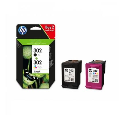 HP 302 Combo-pack Preto/Tri-color Original