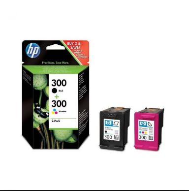 Tinteiro Original HP nº 300 Pack 2 cores