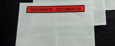 Envelope para 100x240mm adesivo transparente