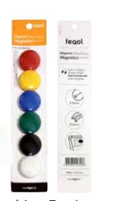 Botão Magnético  30mm, cores sortidas BLT.C/6