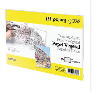 Bl. papel vegetal A3 90gr (50folhas)