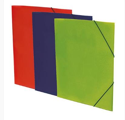 Capa c/elástico A3 Plasticizada c/brilho cores sortidas