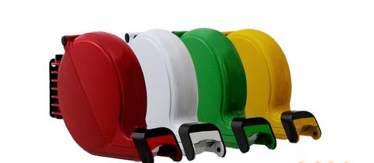 Dispensadores disponiveis nas cores (vermelho, branco, verde e amarelo)