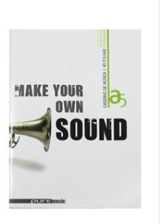 Caderno de música A5 (20folhas)