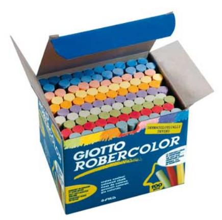 Giz Cores Sortidas Giotto Robercolor Cx 100un
