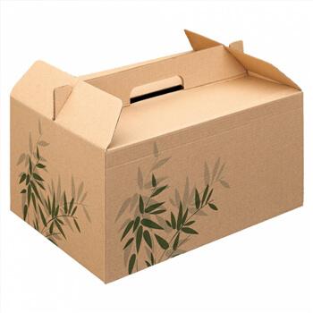"Caixa c / Asa p / Menu ""Lunch Box"" Kraft 28x20x15cm-100 uni"