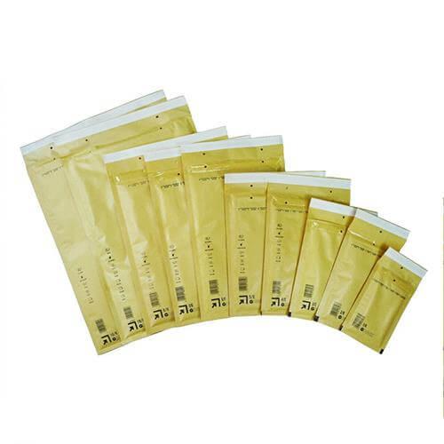 Sacos Almofada Kraft Nº4 180X265MM (Bolhas) - Pack 5un