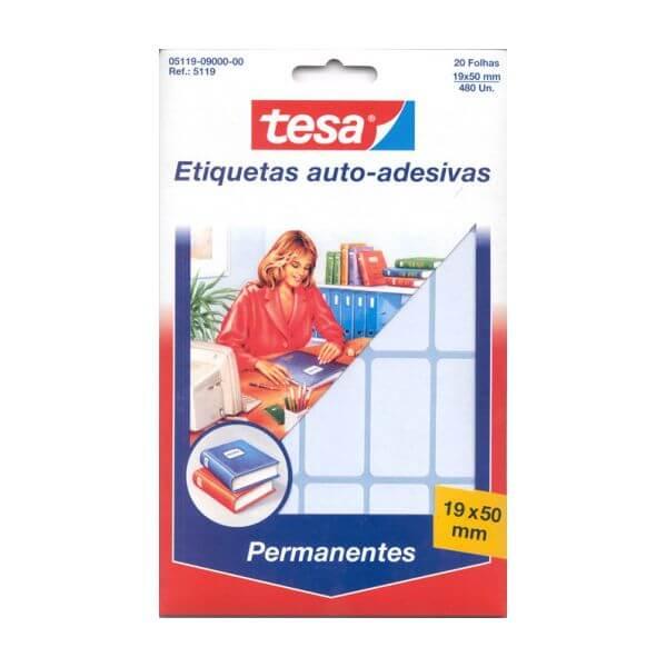 Etiquetas Permanentes TESA 19X50mm C/ 20Fls - 480uni