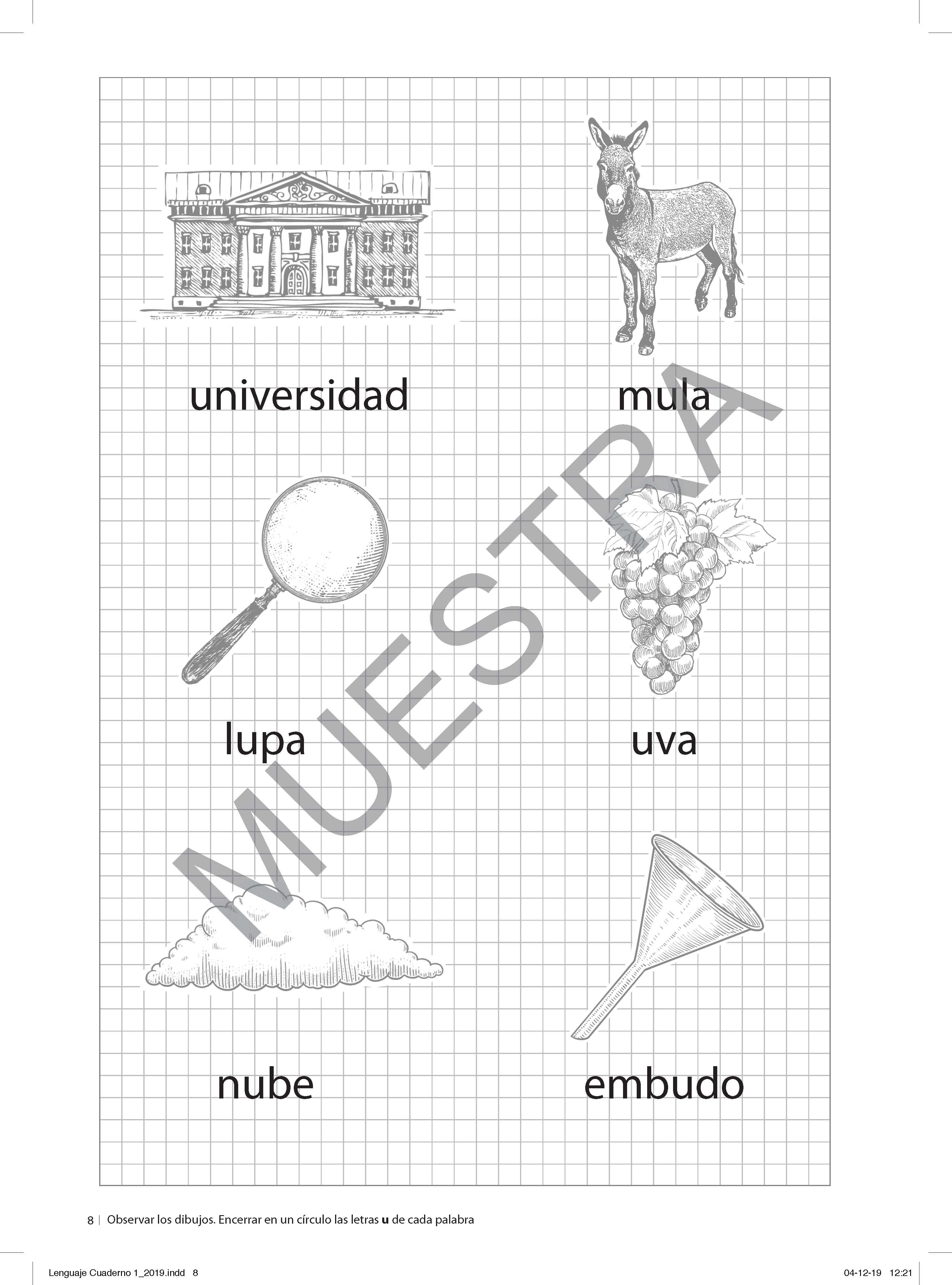 Cuaderno de lectoescritura 1° básico (Set de 3 cuadernos)