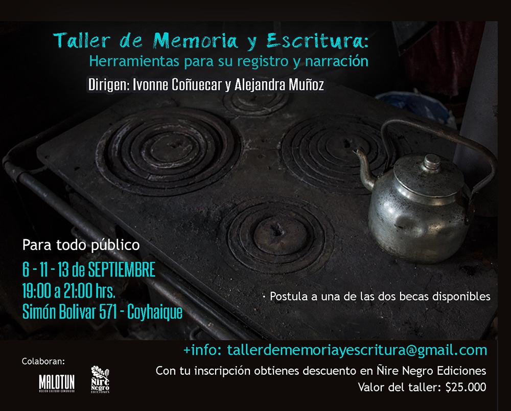 TALLER DE MEMORIA Y ESCRITURA: Herramientas para su registro y narración