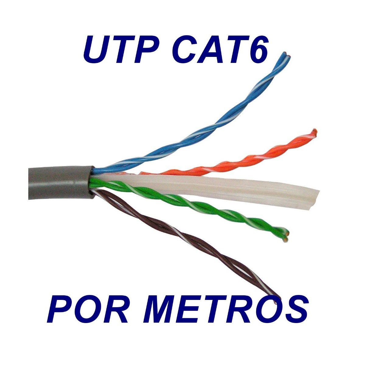 Cable UTP CAT 6 red de 4 Pares Gris por metros NEXXT