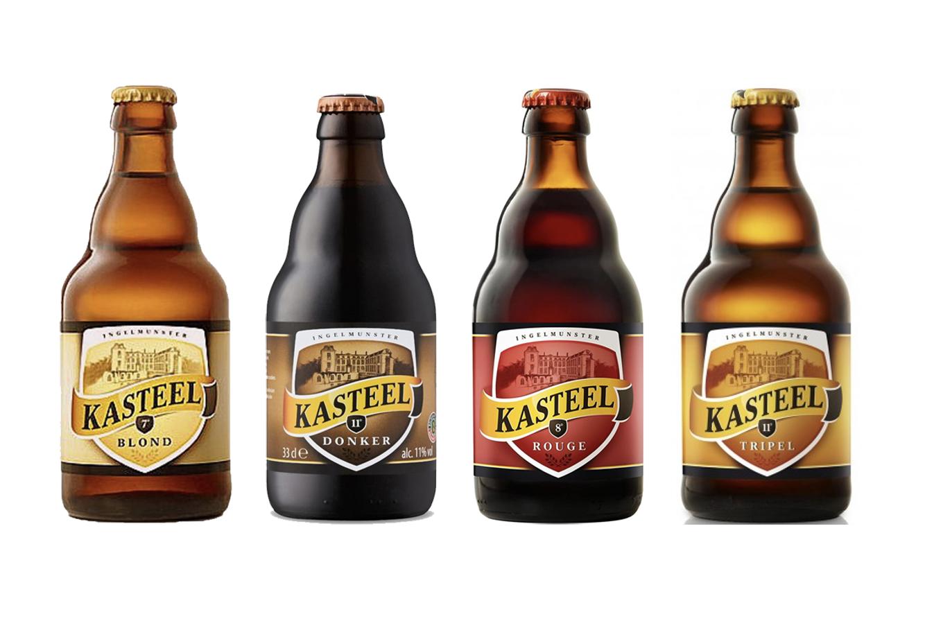Pack 8 Cerveza Kasteel Donker / Rouge / Blond  / Tripel - 330 ml