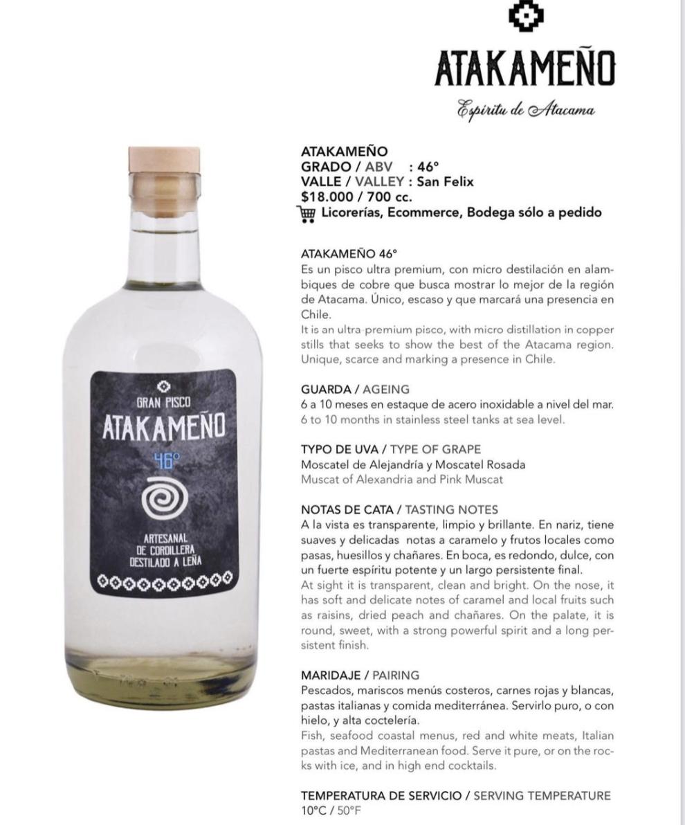 Gran Pisco Atakameño 46º