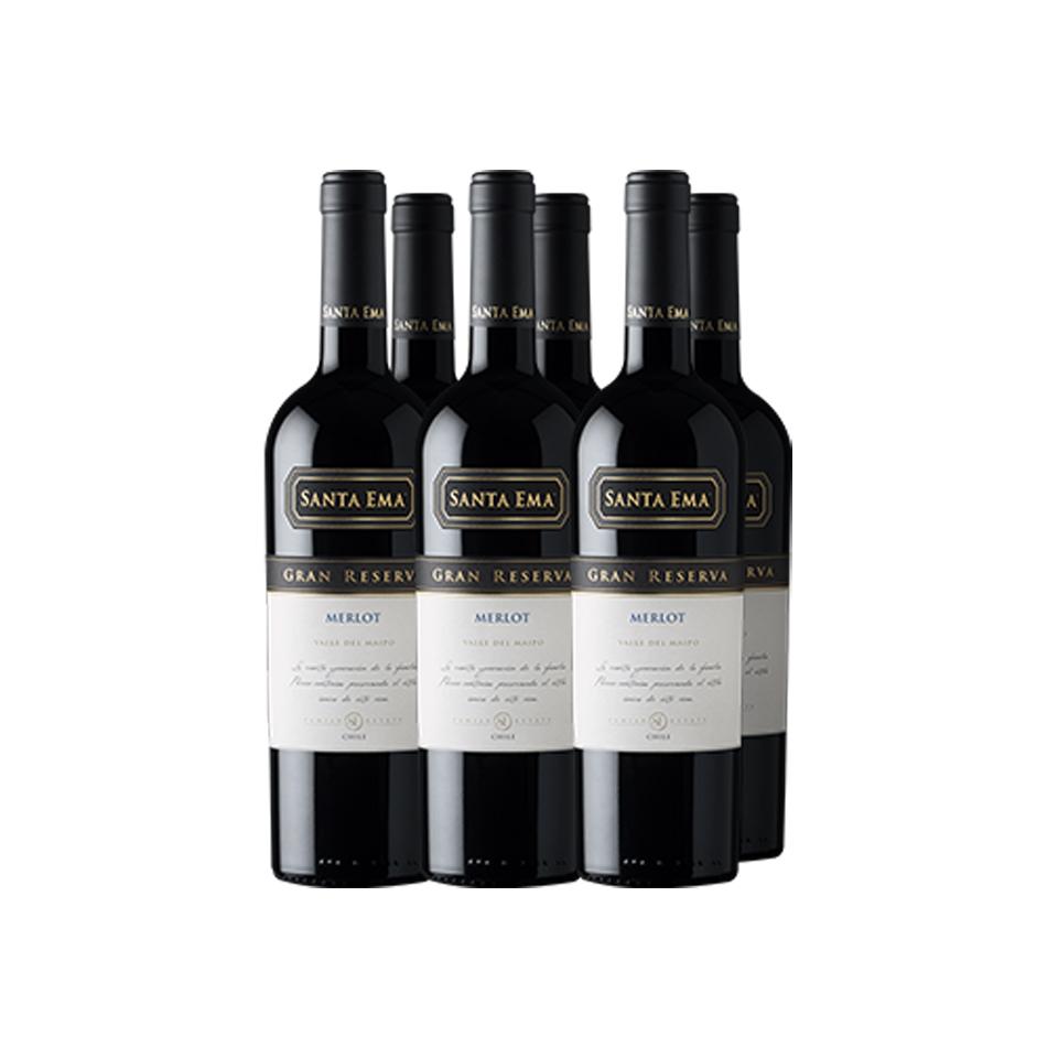 Pack 6 Merlot Gran Reserva - Viña Santa Ema