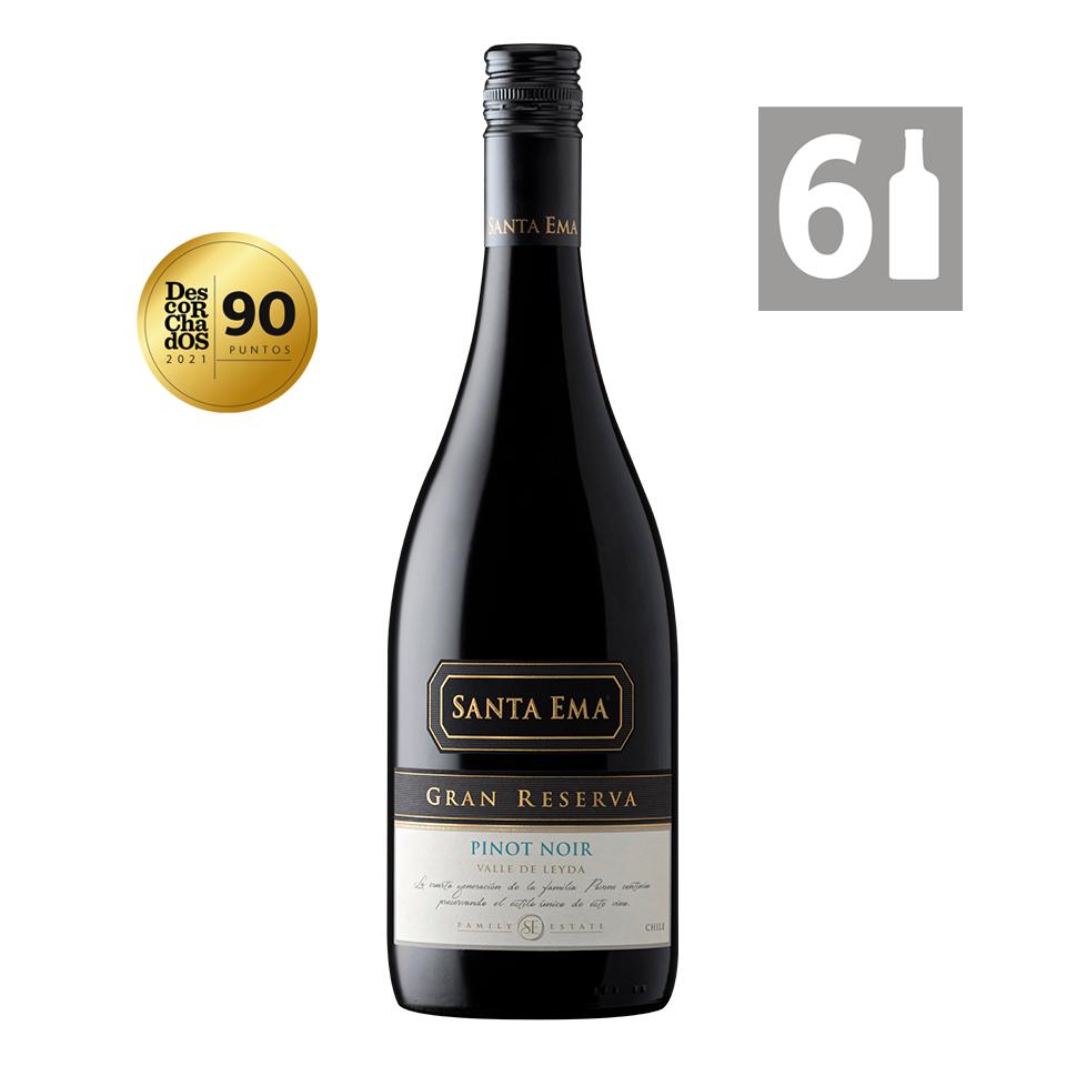 Pack 6 Pinot Noir Gran Reserva - Viña Santa Ema