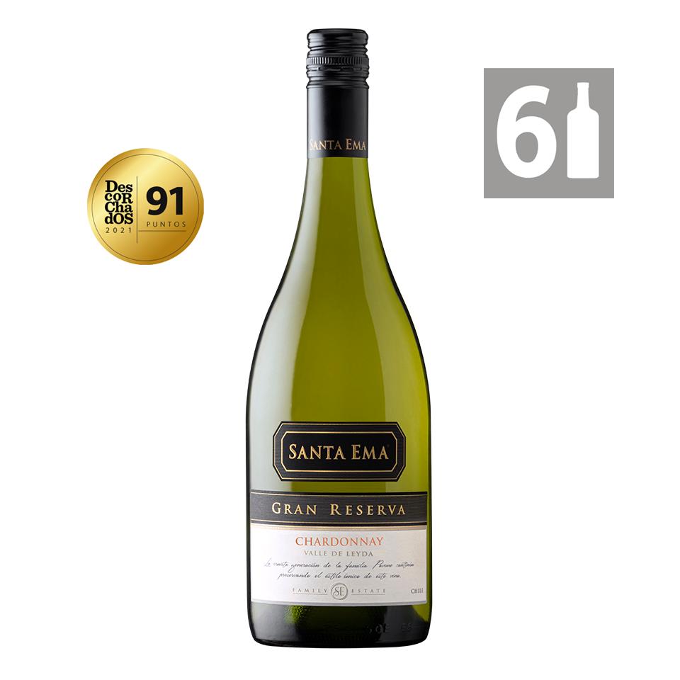 Chardonnay Gran Reserva Viña Santa Ema 6 botellas