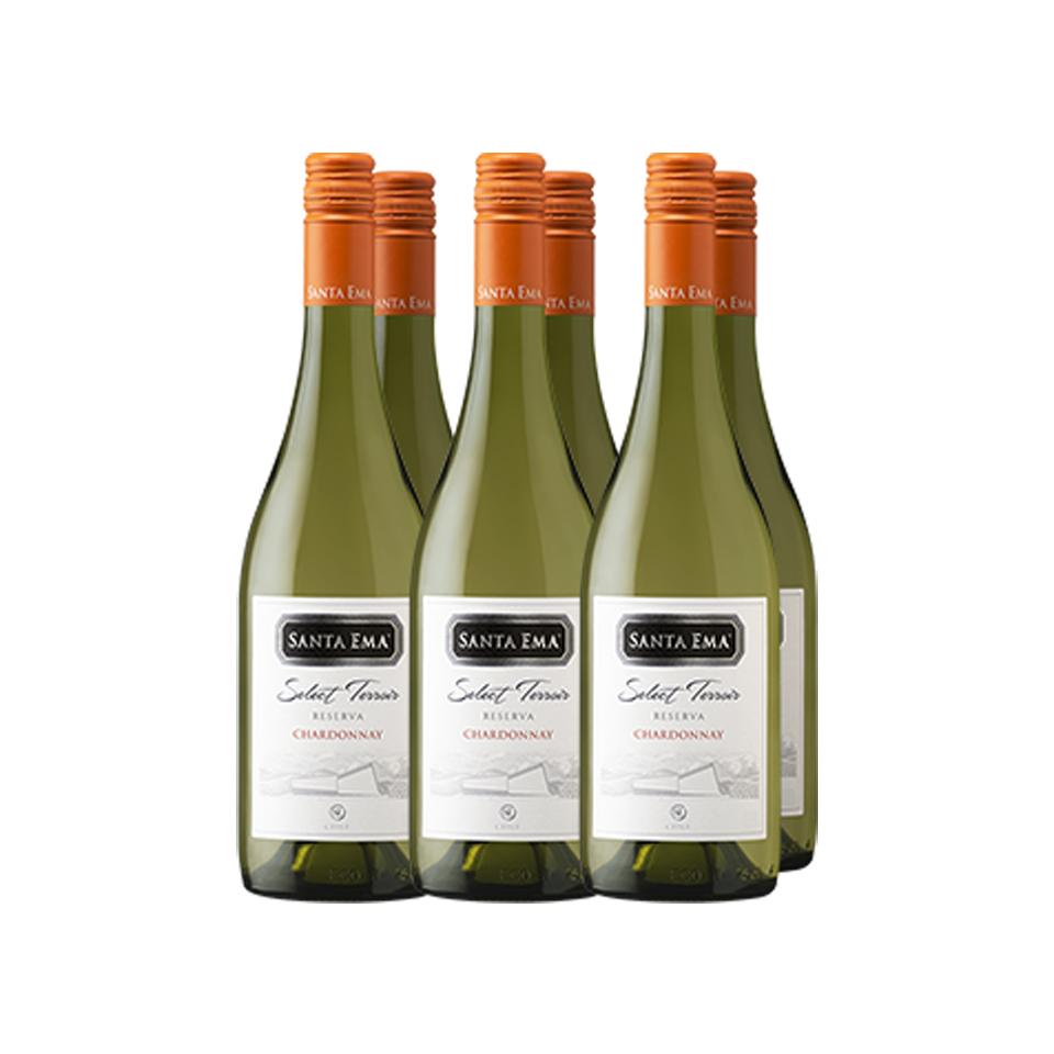 Chardonnay  Select Terroir Reserva  Caja 6 - Viña Santa Ema